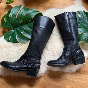 Vince Camuto💕Riding Heel Metal Kick Calf Boots 9